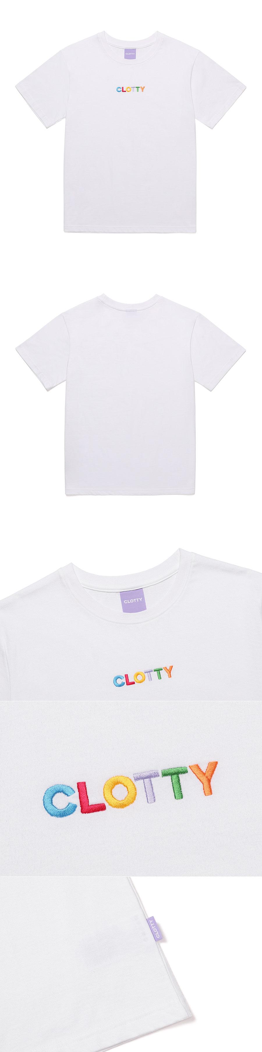 클로티(CLOTTY) RAINBOW LOGO T-SHIRT WHITE(CY2AMFT511A)