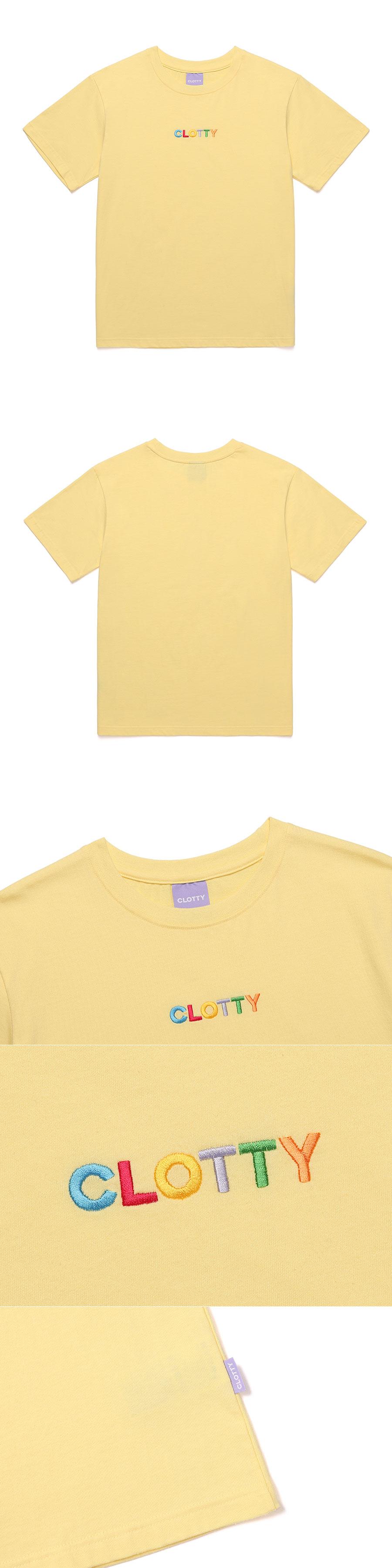 클로티(CLOTTY) RAINBOW LOGO T-SHIRT YELLOW(CY2AMFT511A)