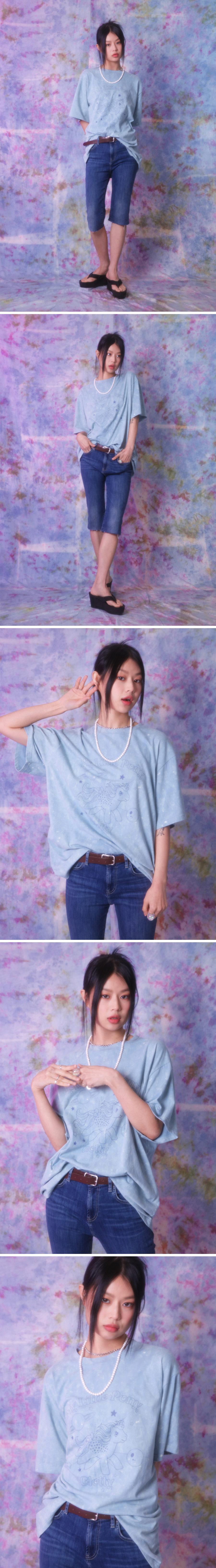 클로티(CLOTTY) PLANET PONY TIE-DYE T-SHIRT BLUE(CY2BMFT505B)