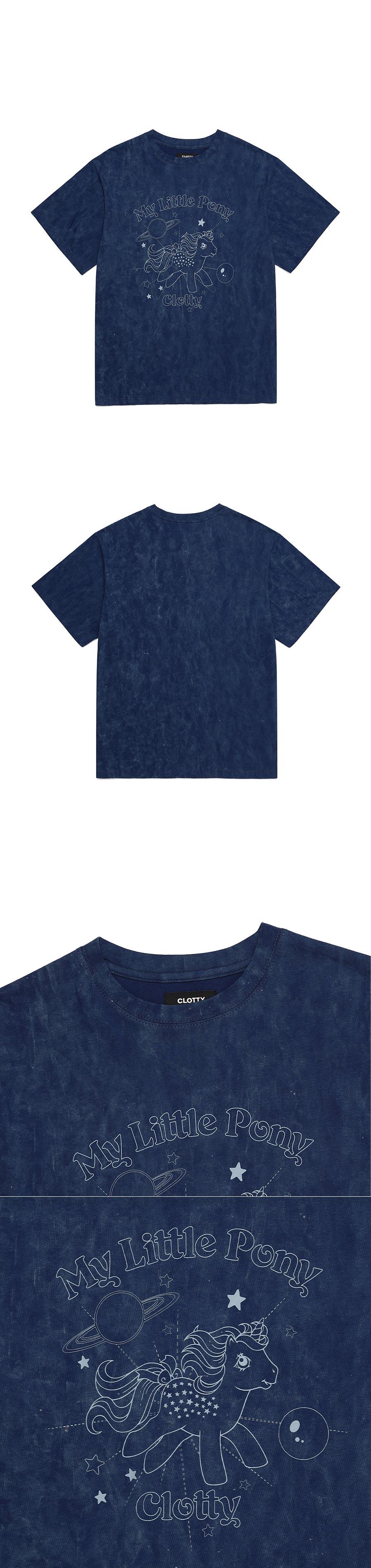 클로티(CLOTTY) PLANET PONY TIE-DYE T-SHIRT NAVY(CY2BMFT505B)