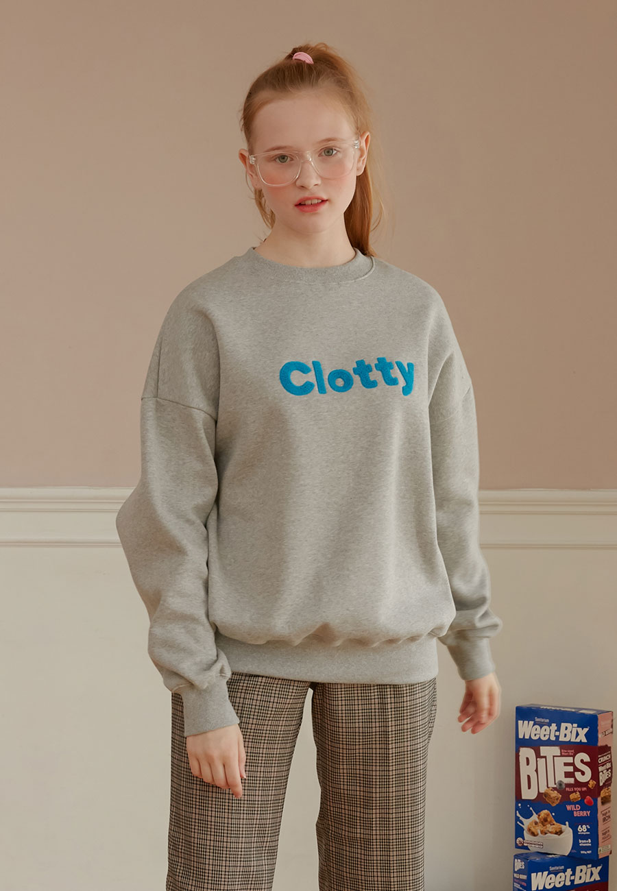 CLOTTY LOGO SWEAT-SHIRT[GREY]