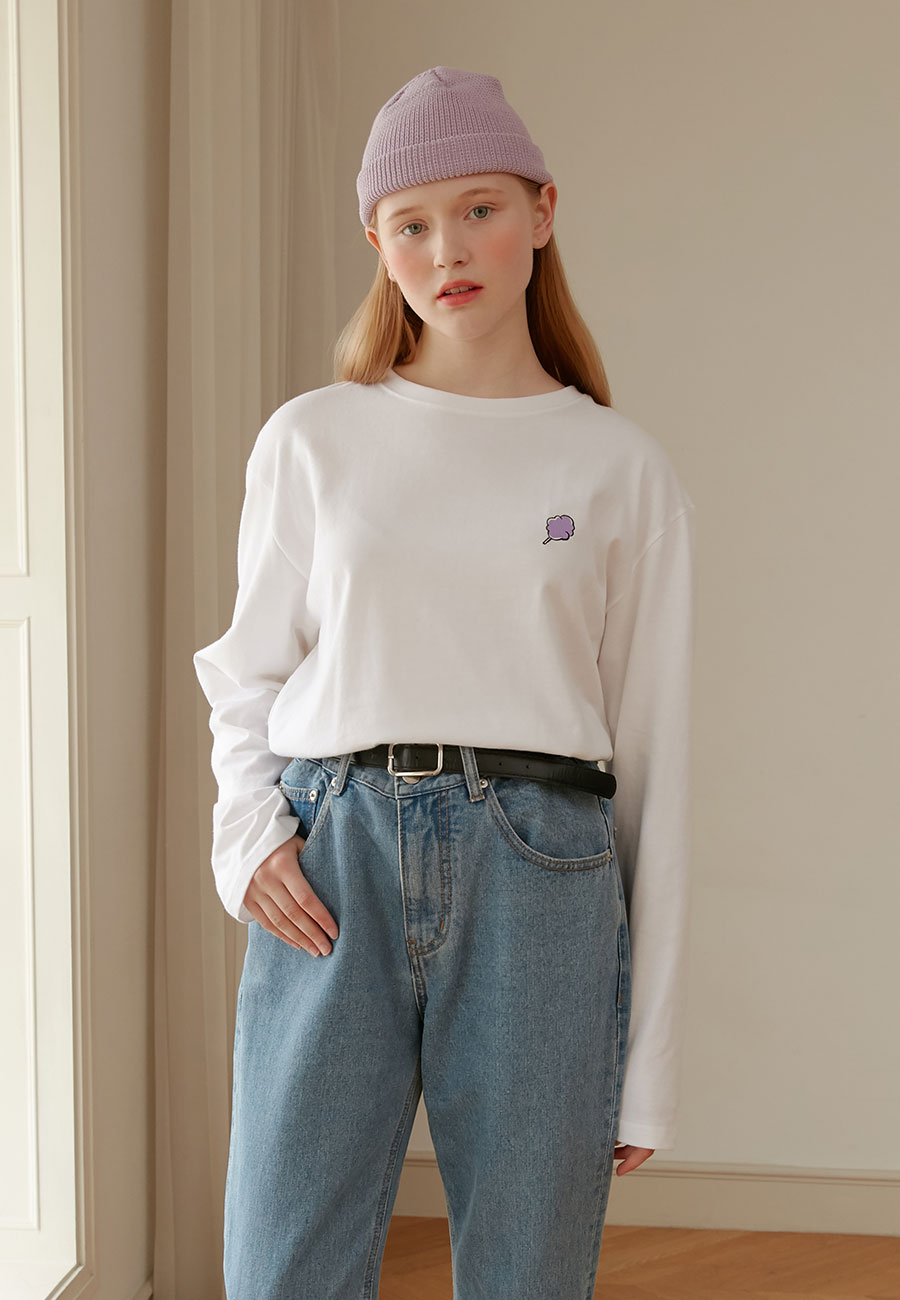 [LAST ORDER]SMALL CC LONG SLEEVE[WHITE]