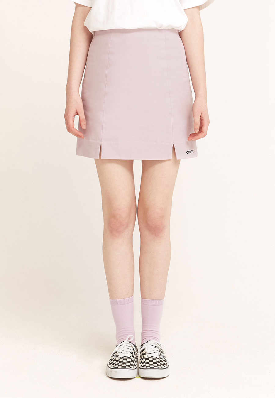 LOGO BANDING SKIRT[PURPLE]