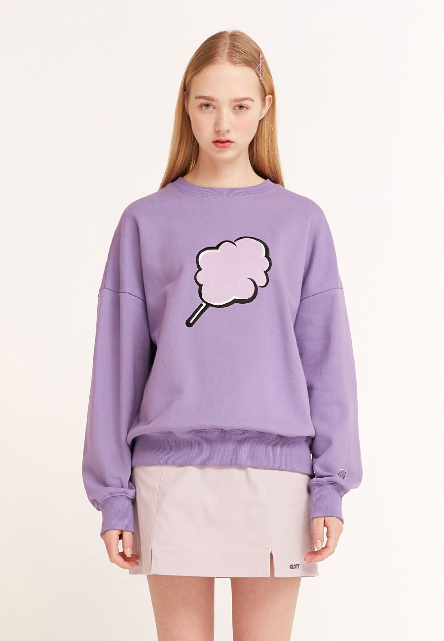 [2/17 예약발송] BIG CC SWEAT-SHIRT[PURPLE]