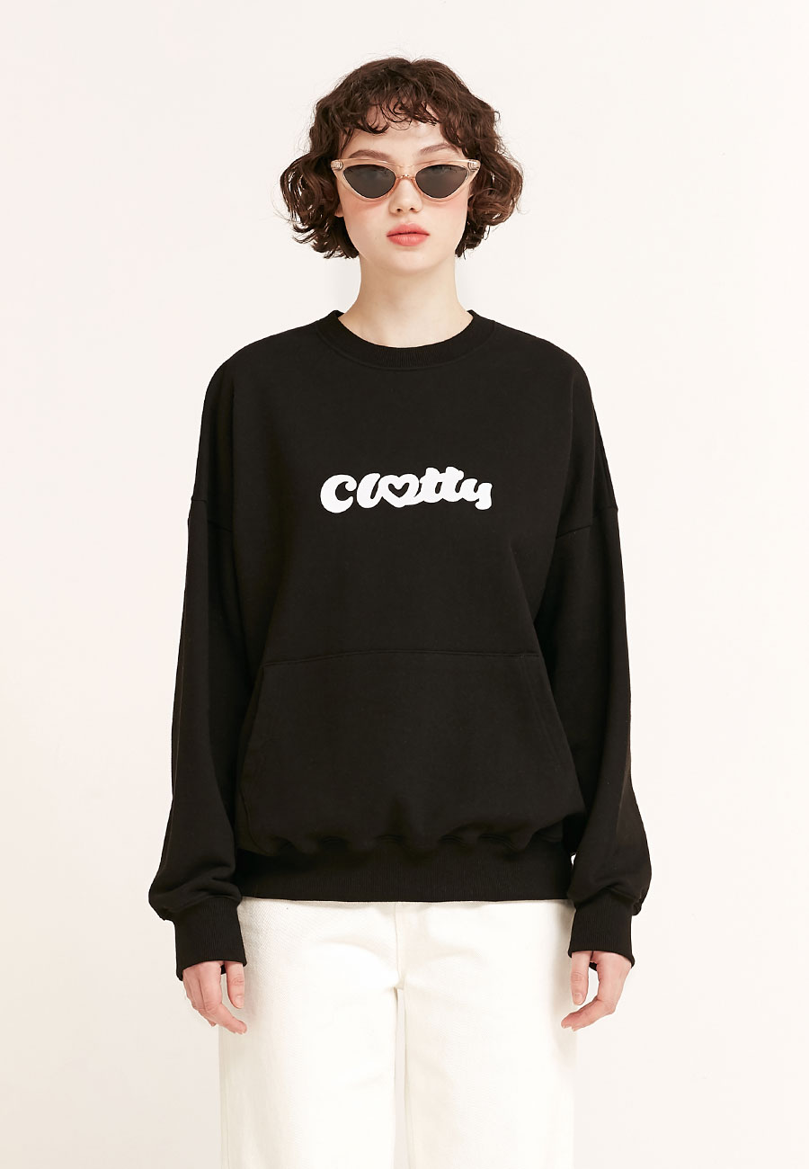 HEART CLOTTY SWEAT-SHIRT[BLACK]
