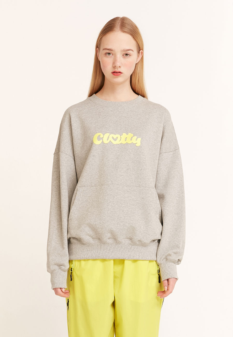 HEART CLOTTY SWEAT-SHIRT[GREY]