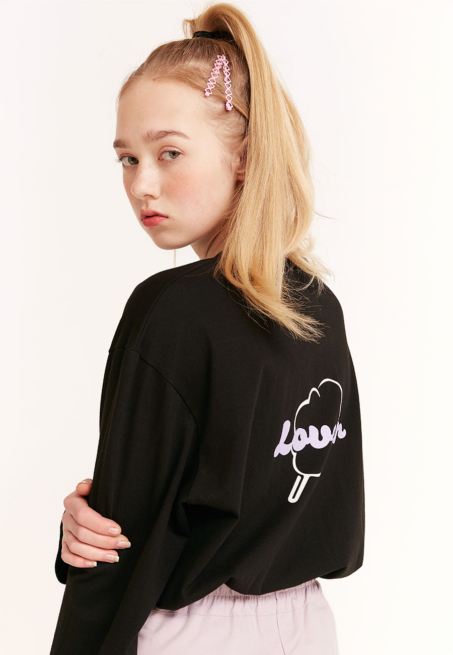 [2/21 예약발송]CC LOVER LONG SLEEVE[BLACK]