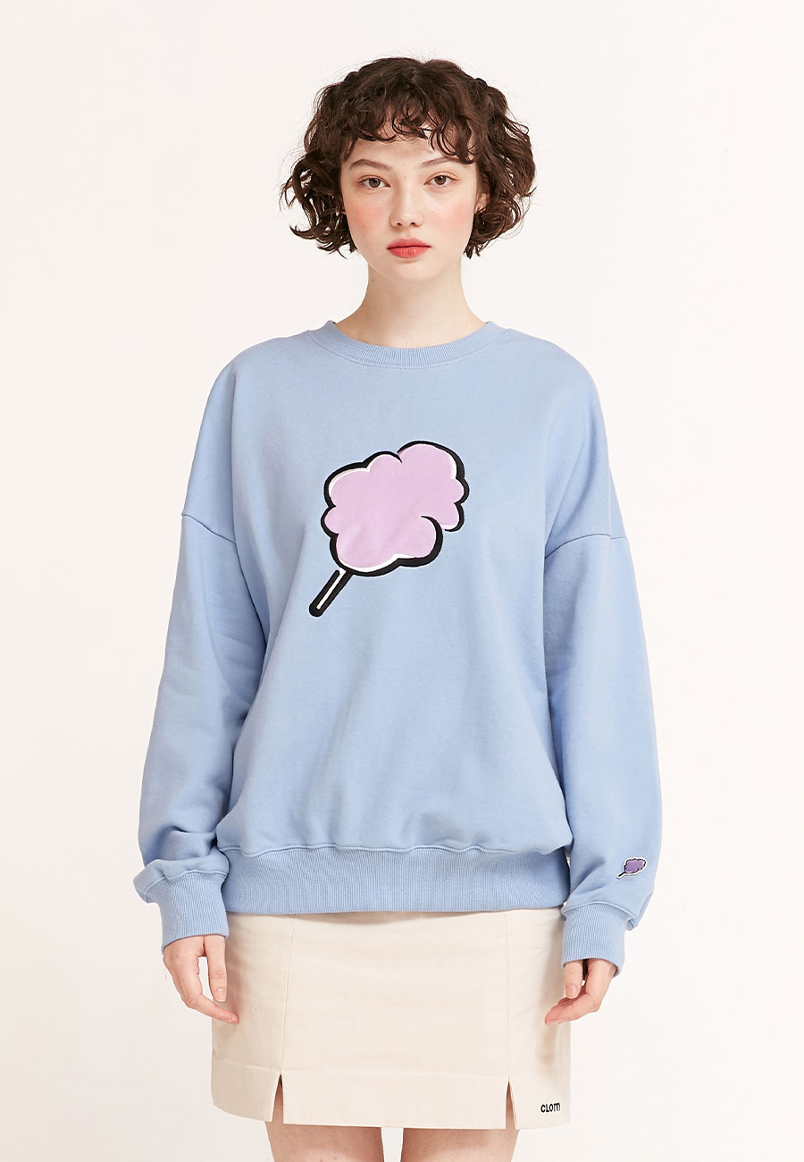[2/21 예약배송]BIG CC SWEAT-SHIRT[BLUE]