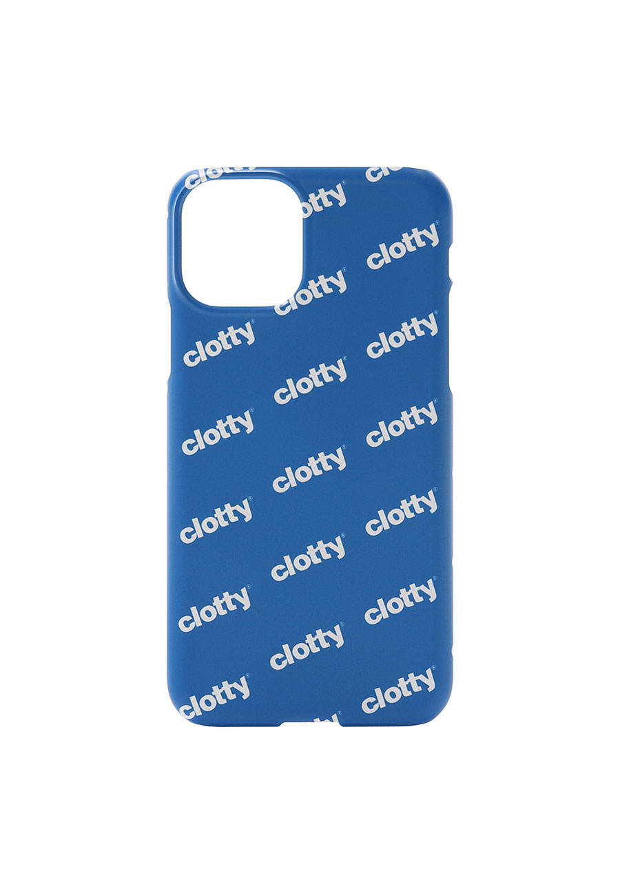 LOGO PATTERN PHONE CASE[BLUE]