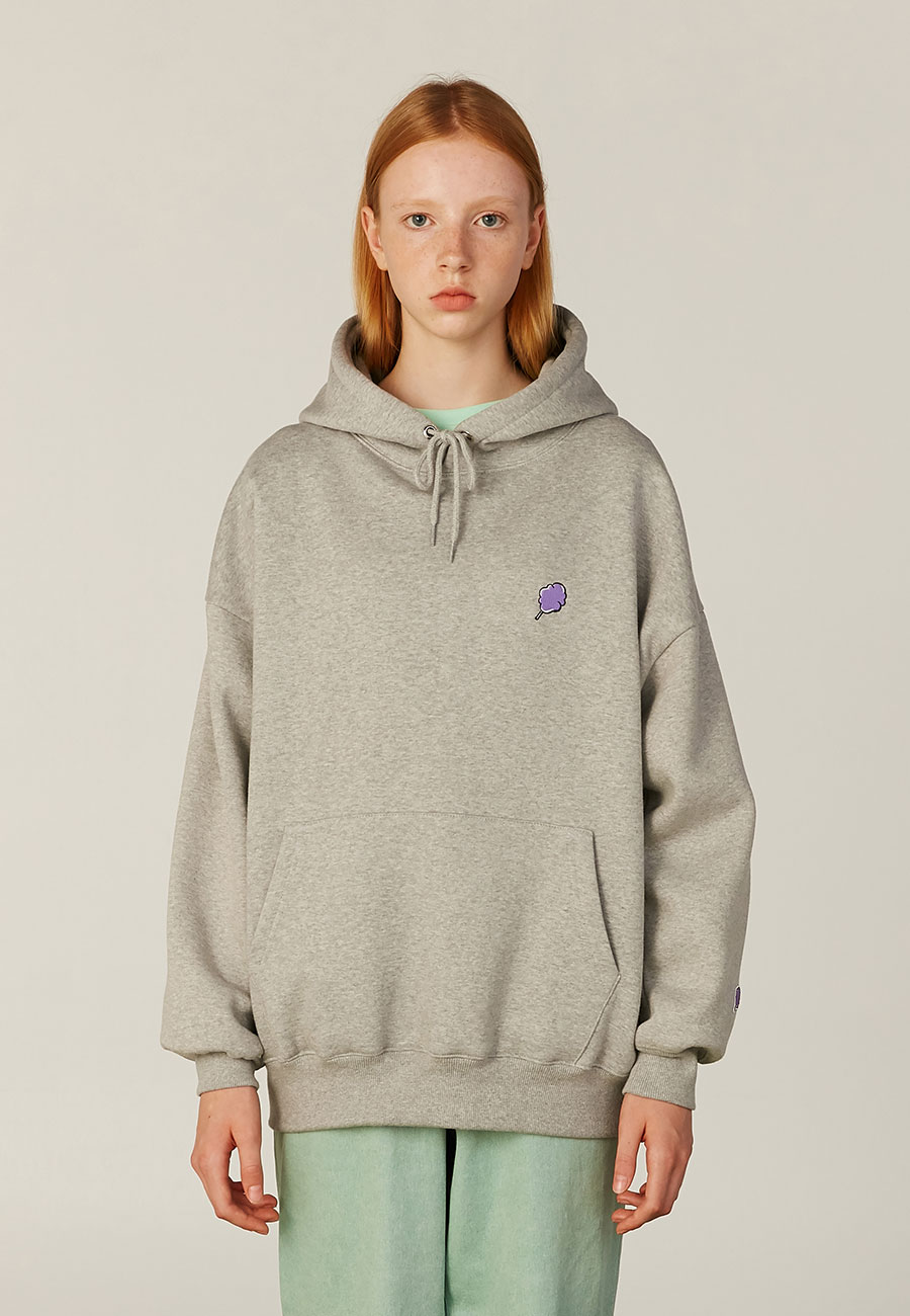 SMALL CC HOODIE[GREY]