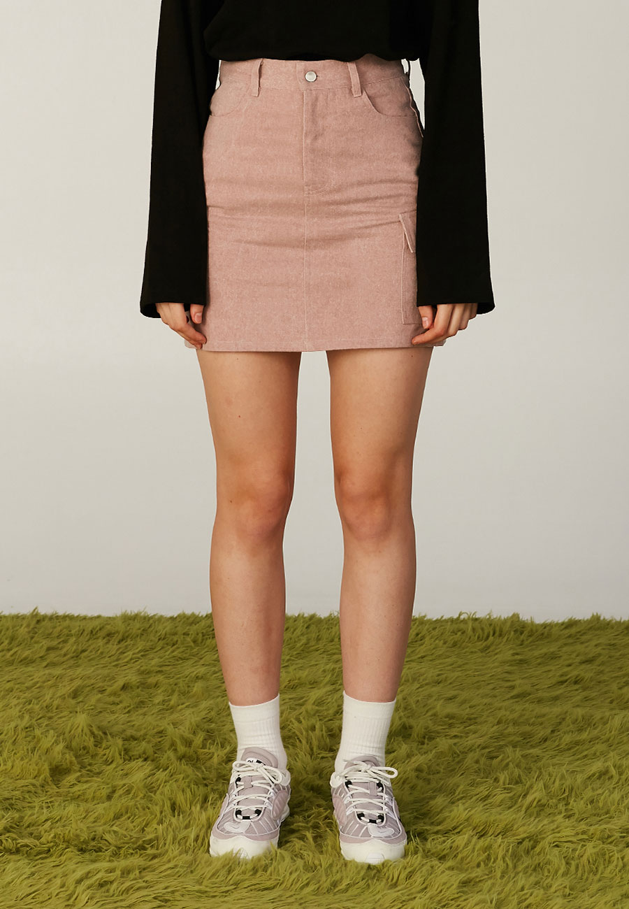 JELLY PATCH POCKET SKIRT[PINK]