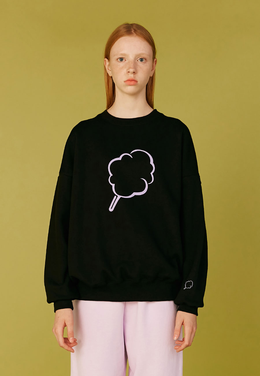 BIG CC OUTLINE SWEAT-SHIRT[BLACK]