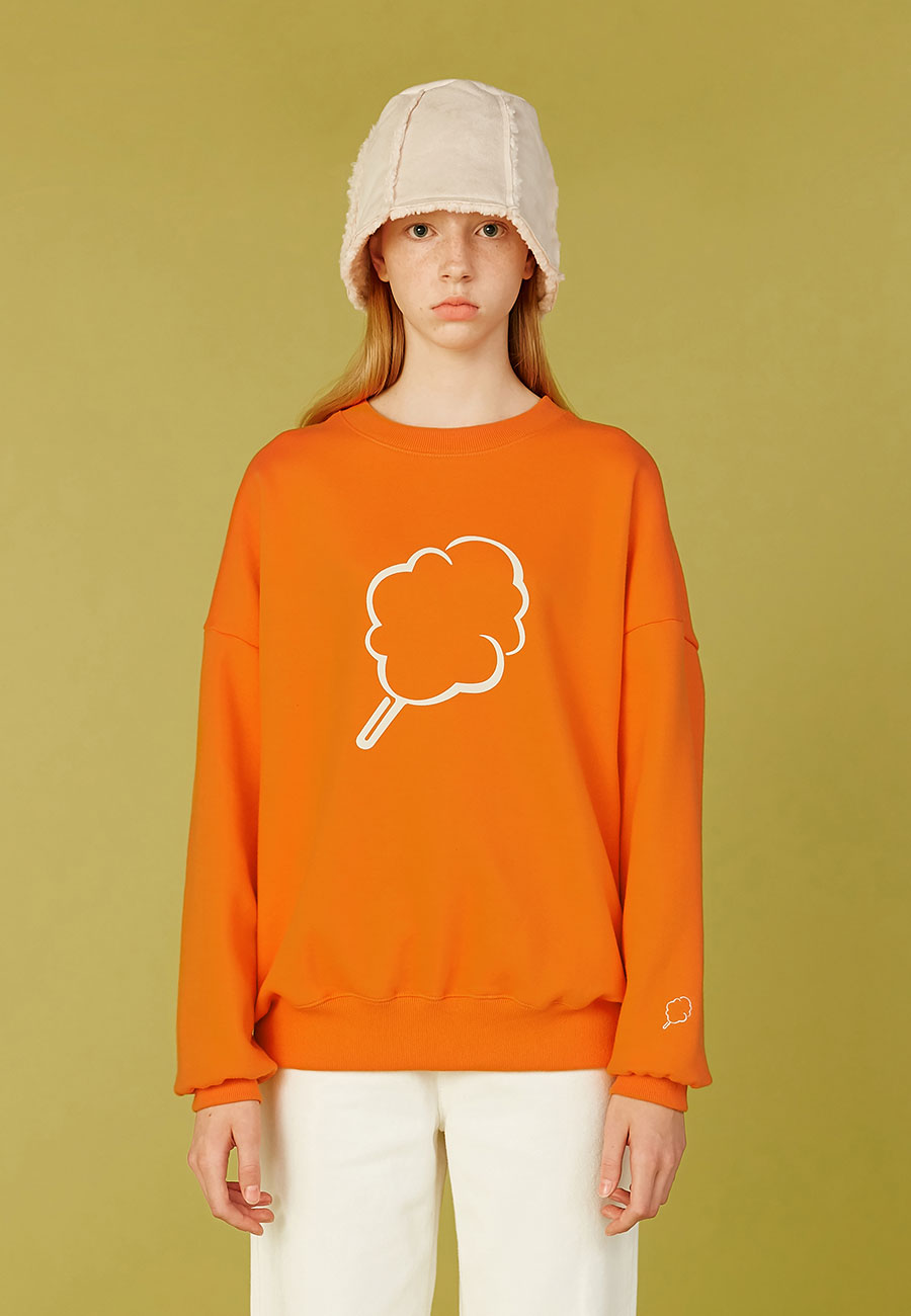BIG CC OUTLINE SWEAT-SHIRT[ORANGE]