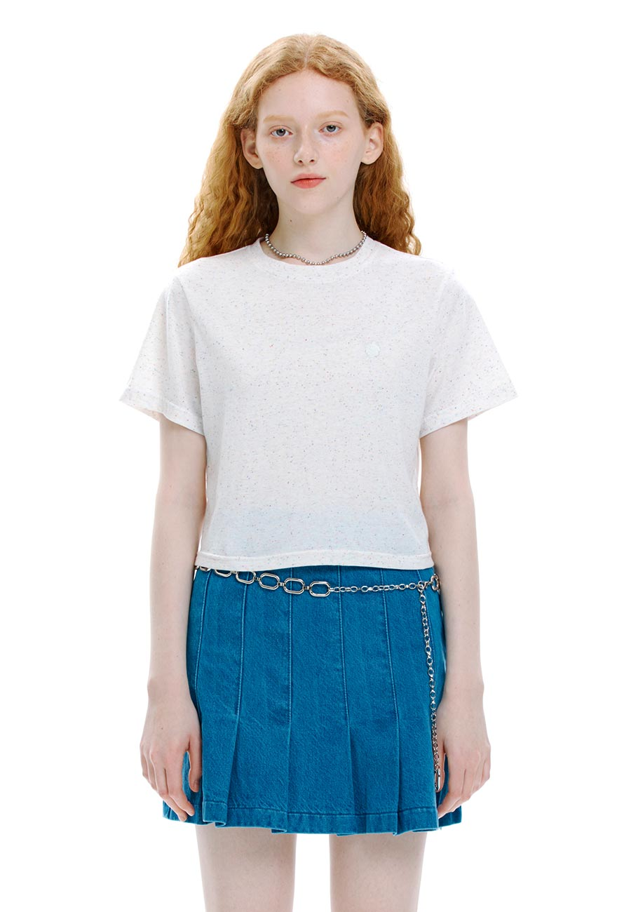 NEP CROP T-SHIRT[WHITE]