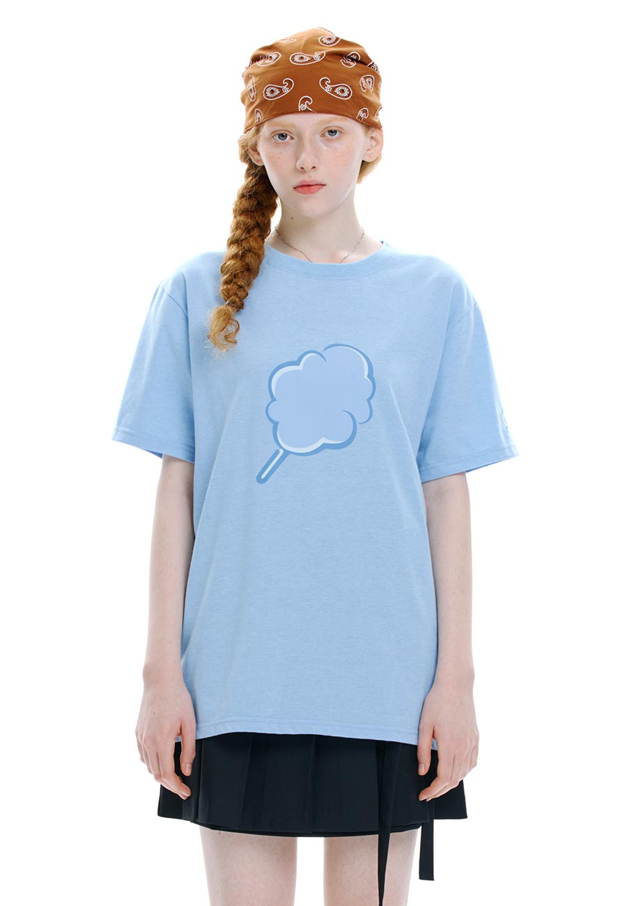 TONE ON TONE CC T-SHIRT[BLUE]