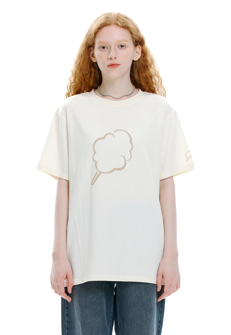 OUTLINE CC T-SHIRT[IVORY]