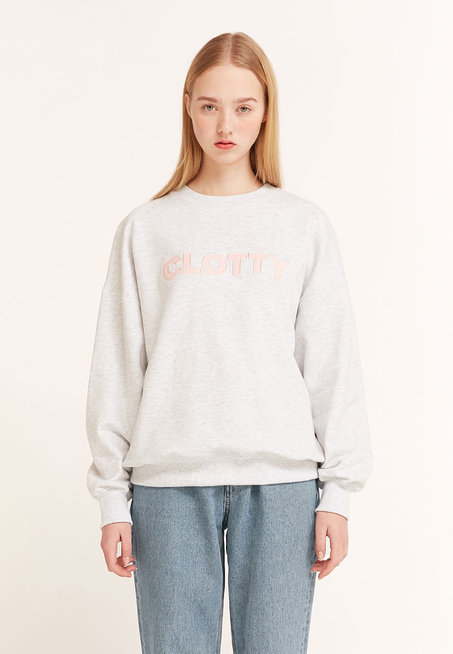 [2/21 예약발송]BIG LOGO SWEAT-SHIRT[LIGHT GREY]
