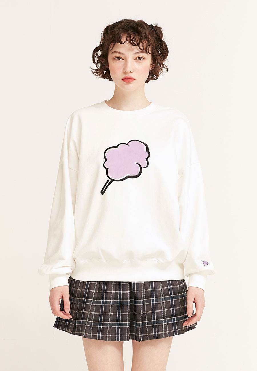 BIG CC SWEAT-SHIRT[WHITE]