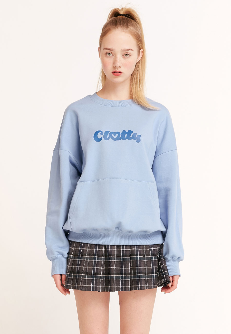 [2/21 예약발송]HEART CLOTTY SWEAT-SHIRT[BLUE]