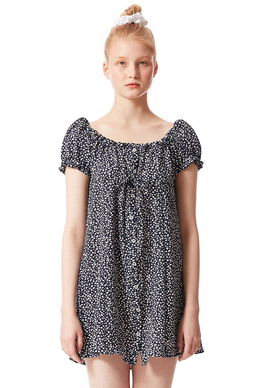 FLOWER MINI ONE PIECE[NAVY]