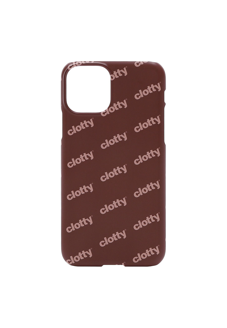 LOGO PATTERN PHONE CASE[BROWN]