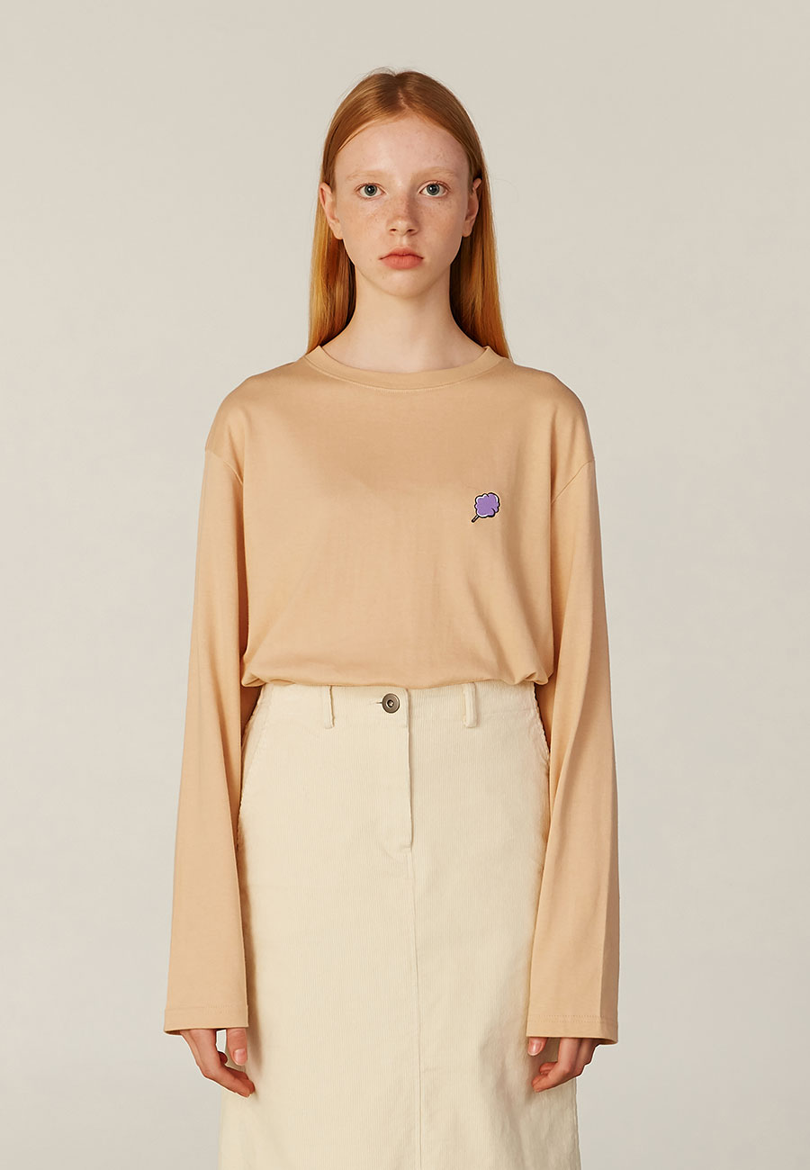 SMALL CC LONG SLEEVE[BEIGE]