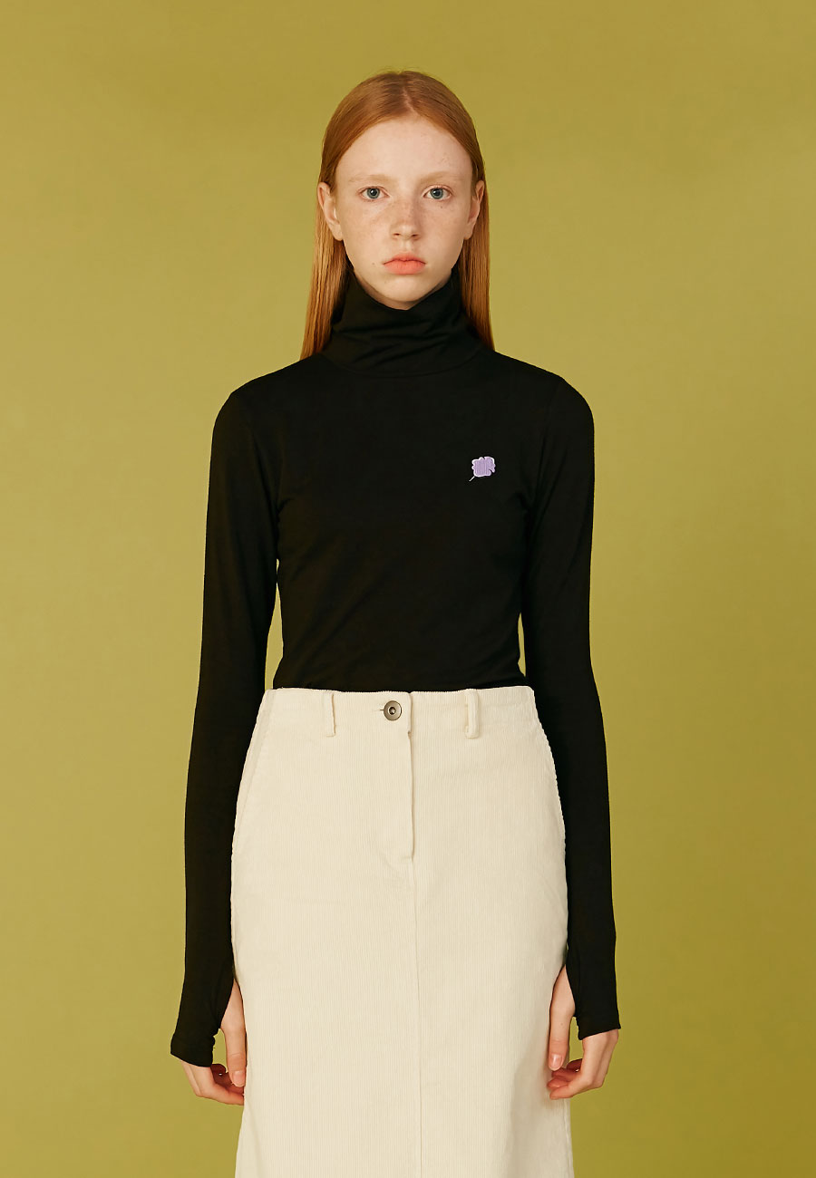 SMALL CC WARMER TURTLENECK[BLACK]