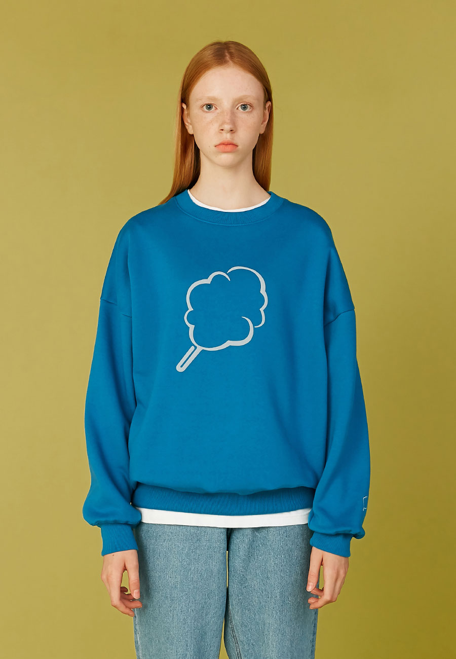 BIG CC OUTLINE SWEAT-SHIRT[BLUE]