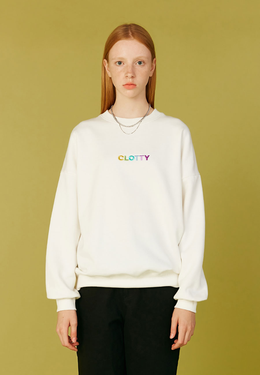 GRADATION LOGO SWEAT-SHIRT[WHITE]