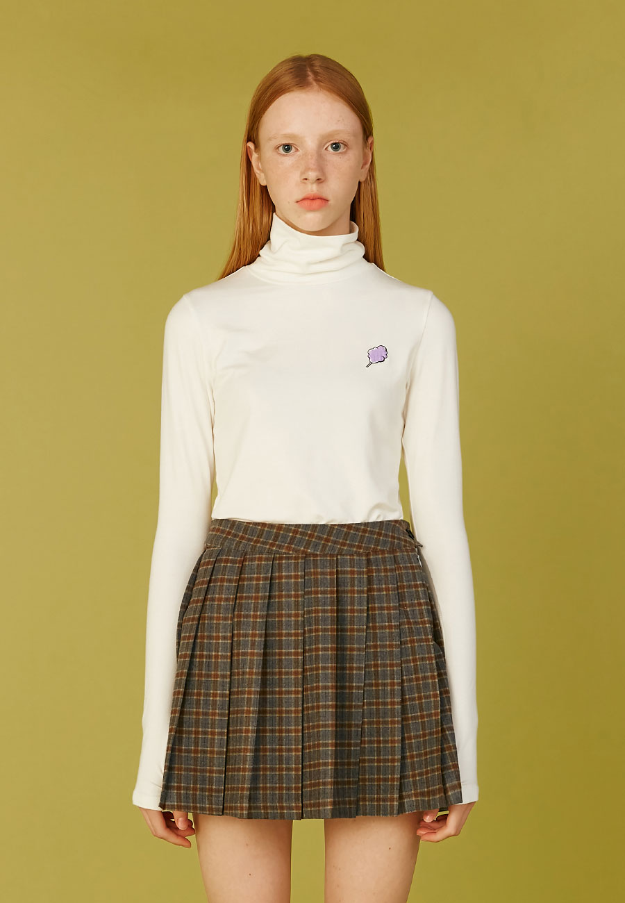 SMALL CC WARMER TURTLENECK[IVORY]