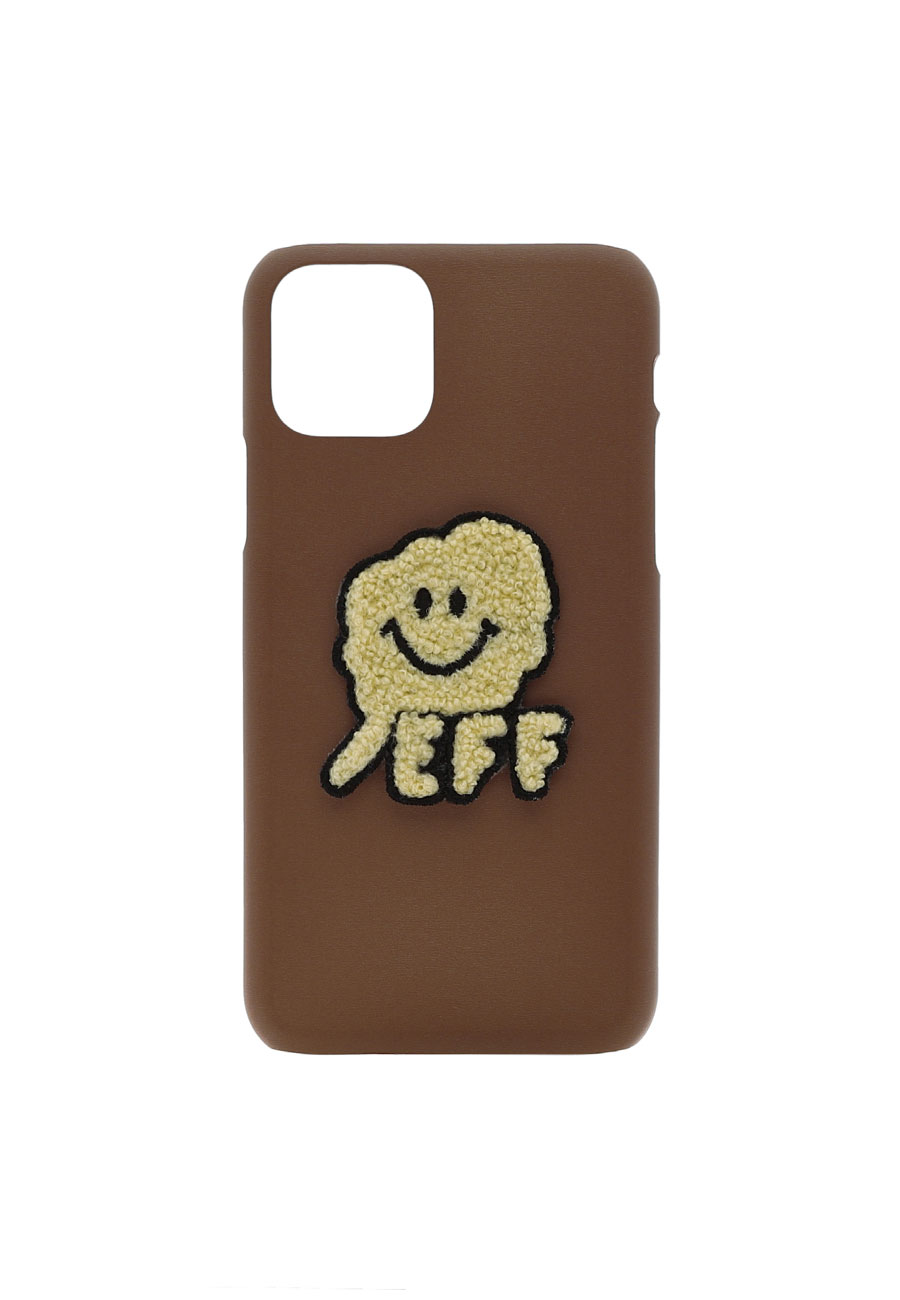 SMILE CC PHONE CASE[BROWN]