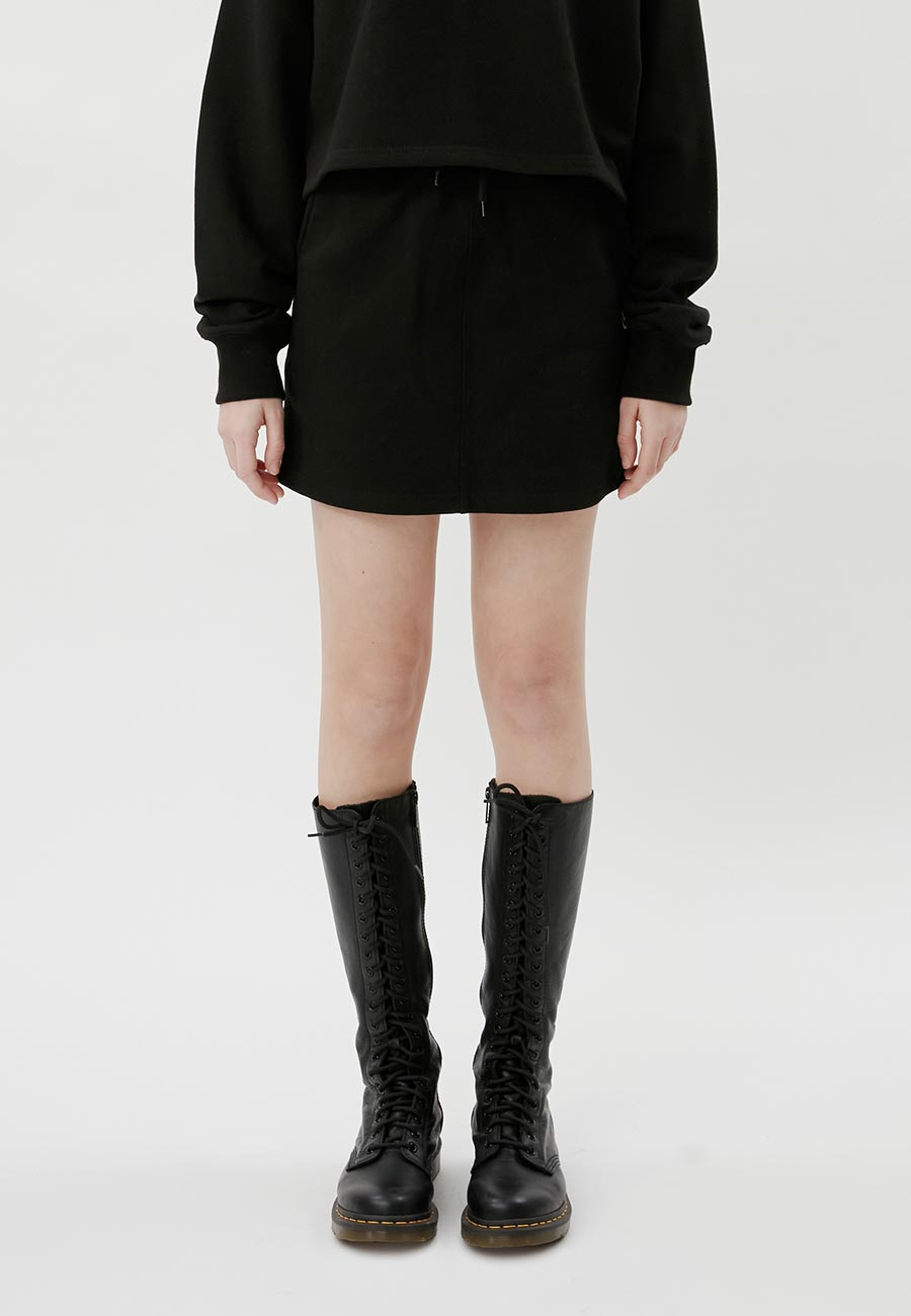 LOGO BANDING MINI SKIRT[BLACK]