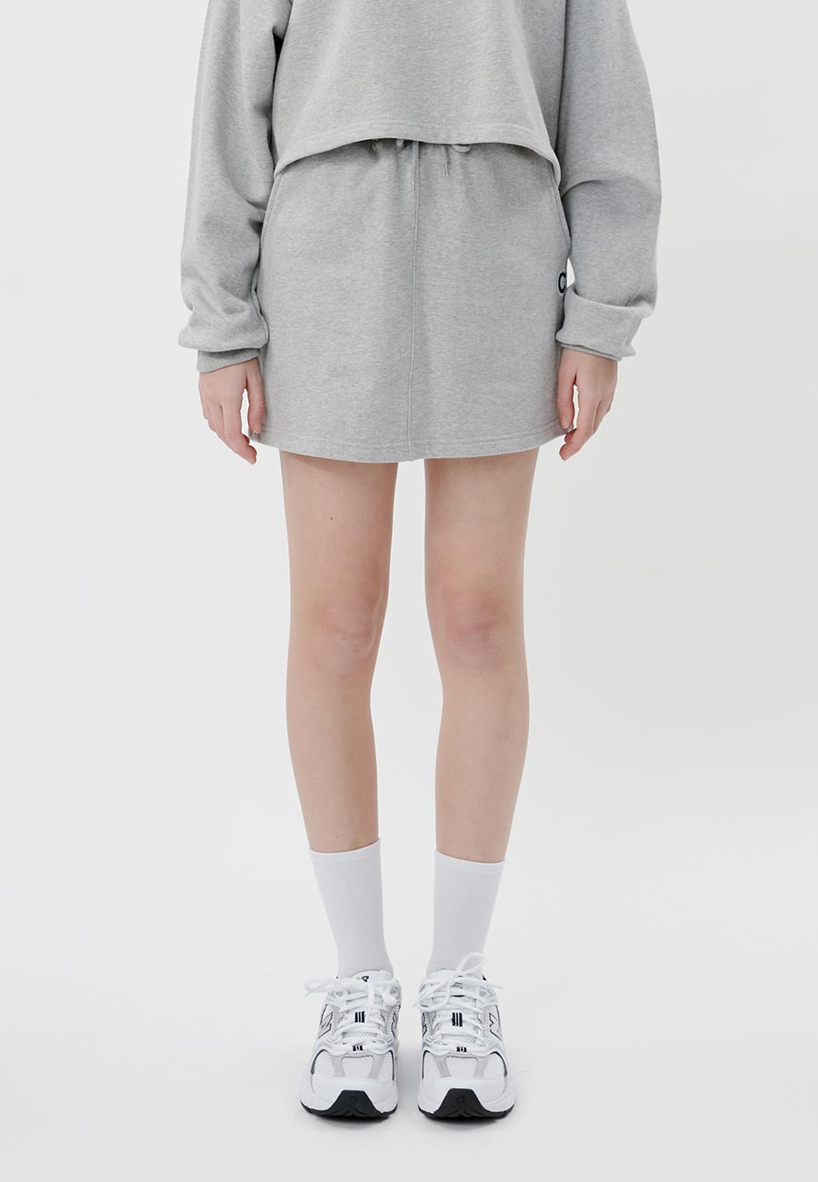 LOGO BANDING MINI SKIRT[GREY]