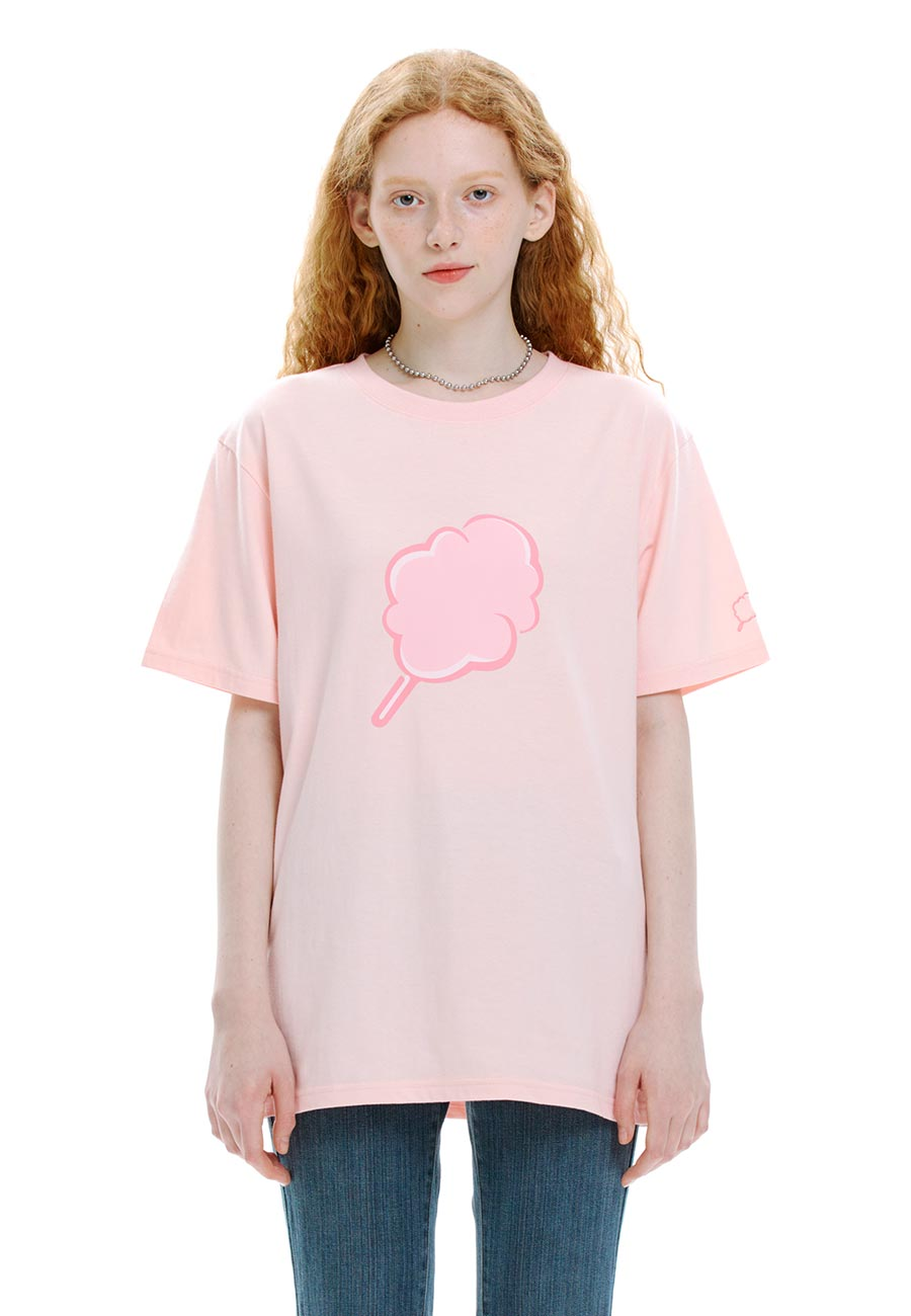 TONE ON TONE CC T-SHIRT[PINK]